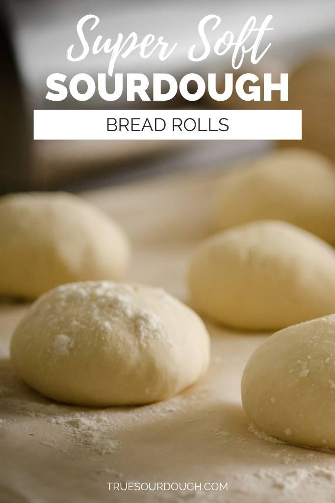 Super Soft Same Day No Knead Sourdough Bread Rolls Recipe