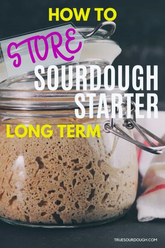 How to Store Sourdough Starter Long Term (Illustrated Guide)
